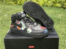 Authentic Supreme x NBA x Nike Air Force 1 Mid Black