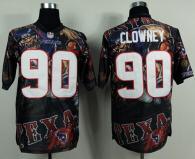 Nike Houston Texans #90 Jadeveon Clowney Team Color Men's Stitched NFL Elite Fanatical Version Jerse