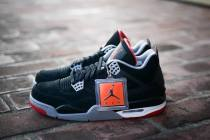 Authentic Air Jordan 4 Black Cement