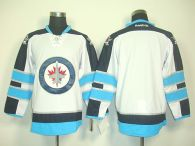 Winnipeg Jets Blank Stitched White 2011 Style NHL Jersey