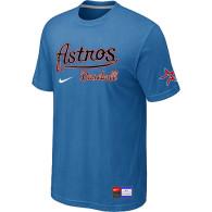 MLB Houston Astros light Blue Nike Short Sleeve Practice T-Shirt