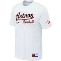 MLB Houston Astros White Nike Short Sleeve Practice T-Shirt