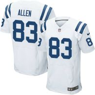 Nike Indianapolis Colts #83 Dwayne Allen White Men's Stitched NFL Elite Jersey
