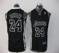 Los Angeles Lakers #24 Kobe Bryant Black Shadow Stitched Youth NBA Jersey