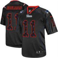 Nike New England Patriots -11 Julian Edelman New Lights Out Black Mens Stitched NFL Elite Jersey