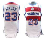 Washington Wizards -23 Michael Jordan White Nike Throwback Stitched NBA Jersey