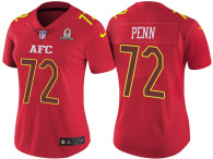 WOMEN'S AFC 2017 PRO BOWL OAKLAND RAIDERS #72 DONALD PENN RED GAME JERSEY