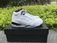 "Authentic Air Jordan 5 GS ""White Cement"""
