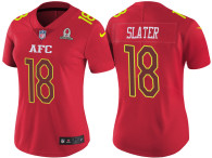 WOMEN'S AFC 2017 PRO BOWL NEW ENGLAND PATRIOTS #18 MATTHEW SLATER RED GAME JERSEY