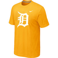 MLB Detroit Tigers Heathered Yellow Nike Blended T-Shirt