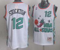 Mitchell And Ness Utah Jazz -12 John Stockton White 1996 All star Stitched NBA Jersey