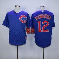 Chicago Cubs -12 Kyle Schwarber Blue Cool Base Stitched MLB Jersey