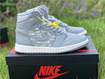 "Authentic Air Jordan 1 High OG ""Nike Air"" Cool Grey"