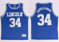 Lincoln He Got Game -34 Jesus Shuttlesworth Blue Stitched Basketball Jersey