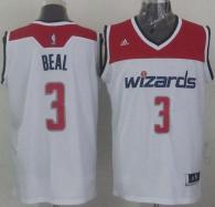 Revolution 30 Washington Wizards -3 Bradley Beal White Stitched NBA Jersey
