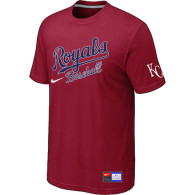 MLB Kansas City Royals Red Nike  Short Sleeve Practice T-Shirt