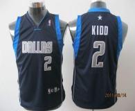 Dallas Mavericks #2 Jason Kidd Dark Blue Stitched Youth NBA Jersey