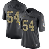 Seattle Seahawks -54 Bobby Wagner Nike Anthracite 2016 Salute to Service Jersey