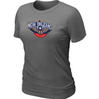 New Orleans Pelicans Big Tall Primary Logo Women T-Shirt (6)