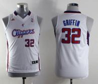 Los Angeles Clippers #32 Blake Griffin White Stitched Youth NBA Jersey