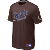 MLB Kansas City Royals Brown Nike  Short Sleeve Practice T-Shirt