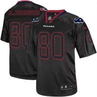 Nike Houston Texans #80 Andre Johnson Lights Out Black Men's Stitched NFL Elite Jersey