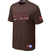 MLB Houston Astros Brown Nike Short Sleeve Practice T-Shirt