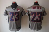 Nike Houston Texans #23 Arian Foster Grey Shadow With 10th Patch Men's Stitched NFL Elite Jersey