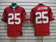 Nike Houston Texans #25 Kareem Jackson Red Alternate Men's Stitched NFL Elite Jersey