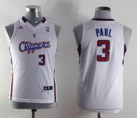 Los Angeles Clippers #3 Chris Paul White Stitched Youth NBA Jersey