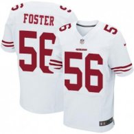 Nike 49ers -56 Reuben Foster White Stitched NFL Elite Jersey