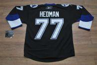 Tampa Bay Lightning -77 Victor Hedman Stitched Black NHL Jersey