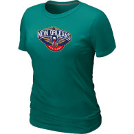 New Orleans Pelicans Big Tall Primary Logo Women T-Shirt (8)
