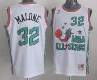 Mitchell And Ness Utah Jazz -32 Karl Malone White 1996 All star Stitched NBA Jersey