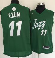 Utah Jazz -11 Dante Exum Green 2016-2017 Christmas Day Stitched NBA Jersey