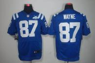 Nike Indianapolis Colts #87 Reggie Wayne Royal Blue Team Color With 30TH Seasons Patch Men's Stitche