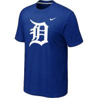 MLB Detroit Tigers Heathered Blue Nike Blended T-Shirt