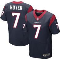 Nike Houston Texans #7 Brian Hoyer Navy Blue Team Color Men's Stitched NFL Elite Jersey