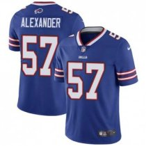 Nike Bills -57 Lorenzo Alexander Royal Blue Team Color Stitched NFL Vapor Untouchable Limited Jersey