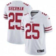 Nike 49ers -25 Richard Sherman White Stitched NFL Vapor Untouchable Limited Jersey