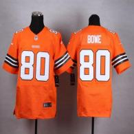 Nike Cleveland Browns -80 Dwayne Bowe Orange Alternate Men's Stitched NFL Elite Jersey