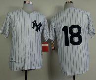 Mitchell and Ness 1956 New York Yankees -18 Don Larsen White Throwback Stitched MLB Jersey