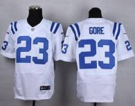 Nike Indianapolis Colts #23 Frank Gore White Men's Stitched NFL Elite Jersey