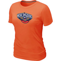 New Orleans Pelicans Big Tall Primary Logo Women T-Shirt (10)
