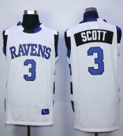 One Tree Hill Ravens -3 Lucas Scott White Stitched Basketball Jersey