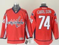 Washington Capitals -74 John Carlson Red Stitched NHL Jersey