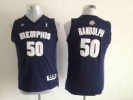 Memphis Grizzlies #50 Zach Randolph Dark Blue Stitched Youth NBA Jersey