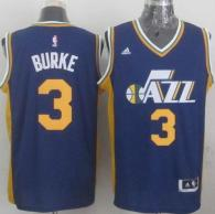 Revolution 30 Utah Jazz -3 Trey Burke Navy Blue Stitched NBA Jersey