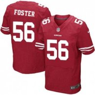 Nike 49ers -56 Reuben Foster Red Team Color Stitched NFL Elite Jersey