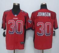 Nike Houston Texans #30 Kevin Johnson Red Alternate Men's Stitched NFL Elite Drift Fashion Jersey